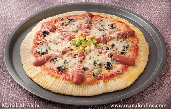 بيتزا بالنقانق