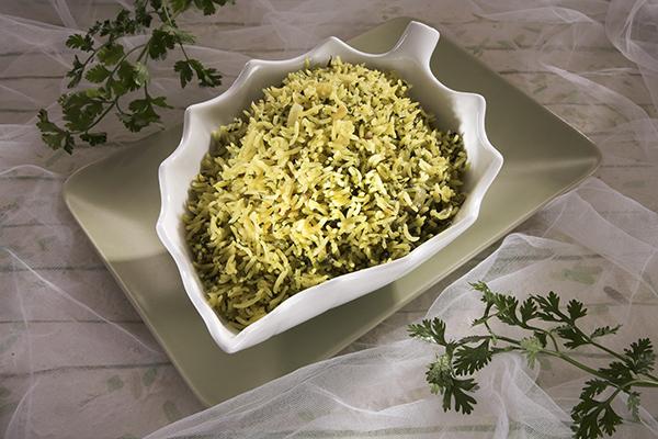 ارز بالكزبرة الخضراء