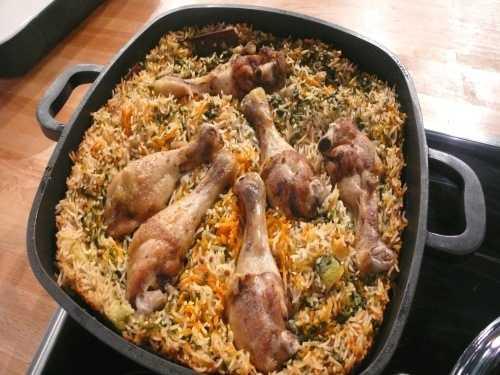 طاجن الأرز بالدجاج بالفرن