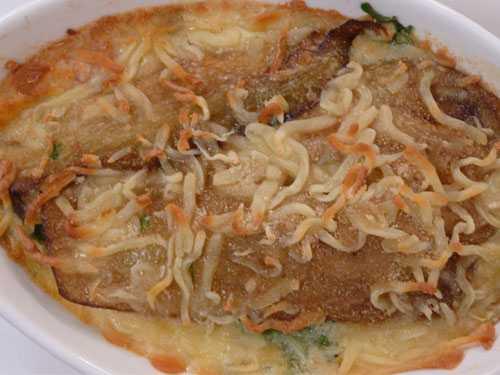 صينية الباذنجان والدجاج بالكريمة