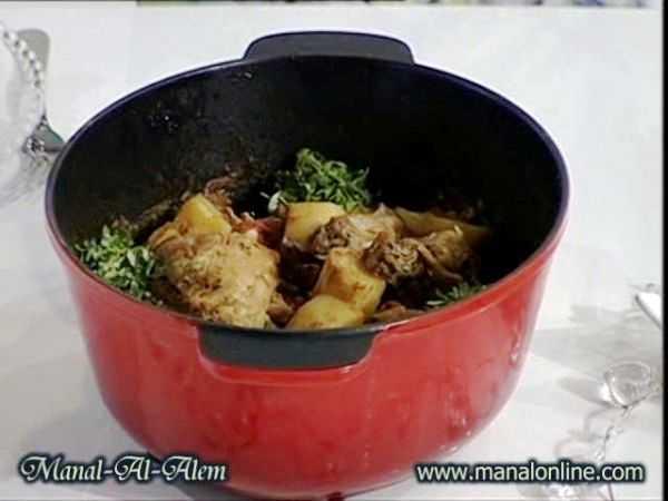 طاجن الدجاج بالبطاطس
