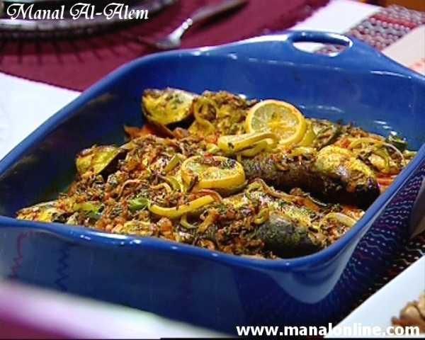 صينية السمك بالخضروات