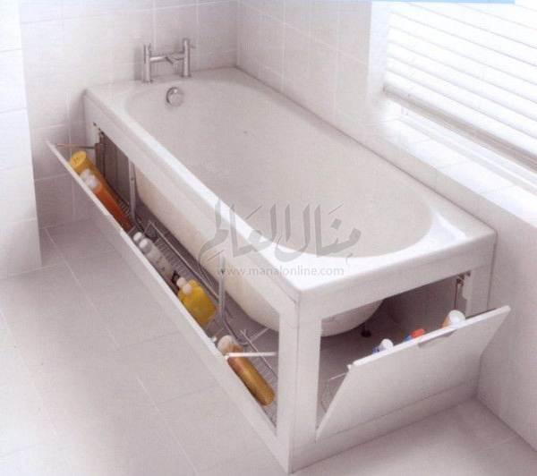 أفكار رائعة لإستغلال المساحات في الحمام-0