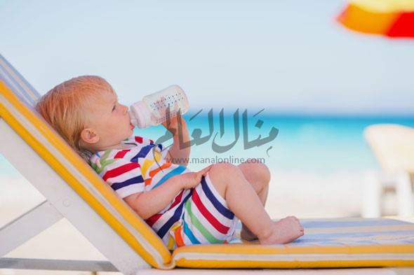 4 نصائح لحماية طفلك من حر الصيف - المشاهدات : 469