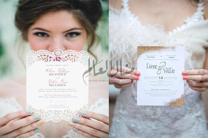اقترب عرسك؟! إليكِ مجموعة من تصاميم دعوات العرس لتختاري منها - المشاهدات : 2K