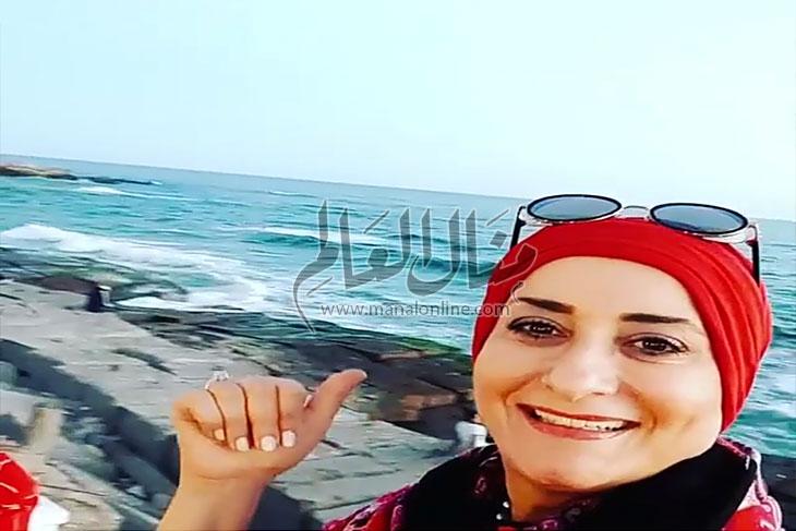 منال العالم تشجع السياحة في مصر  - المشاهدات : 123