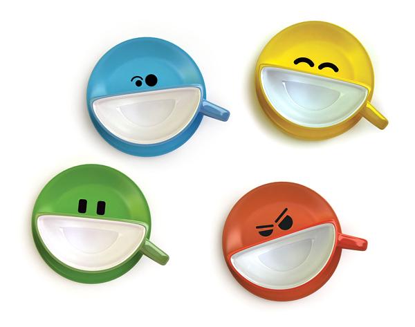 أكواب الشاي المبتسمة