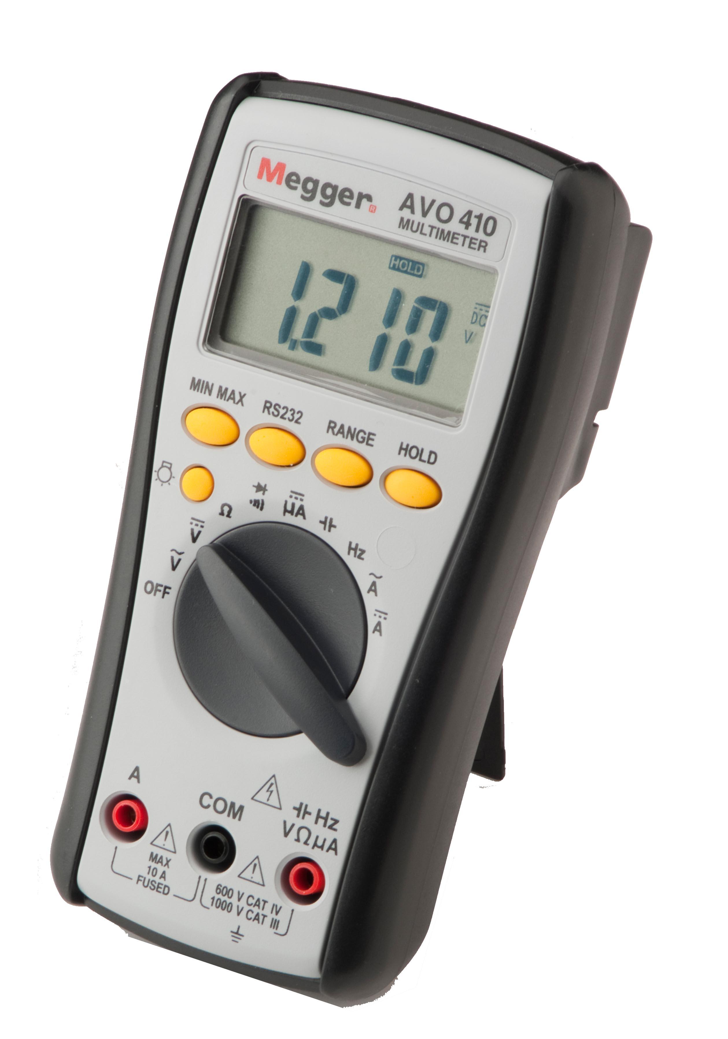 MULTIMETER,DIGITAL,CATIV 600V(1000V CAT111), AVO410