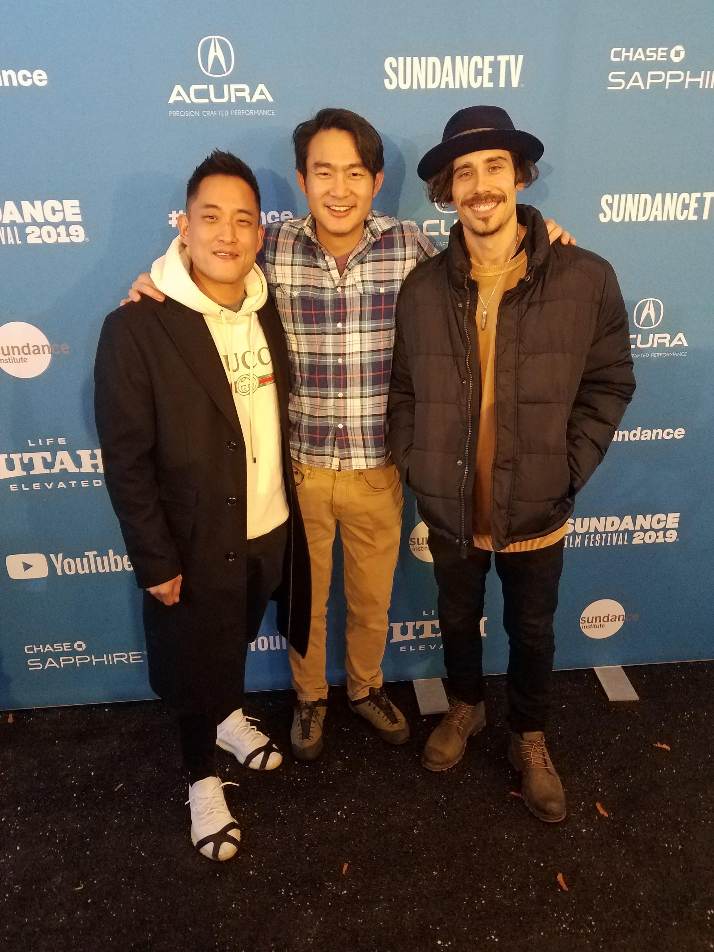 Roger Suen, Ronnie Kim and Octavio Pizano at the Sundance premiere