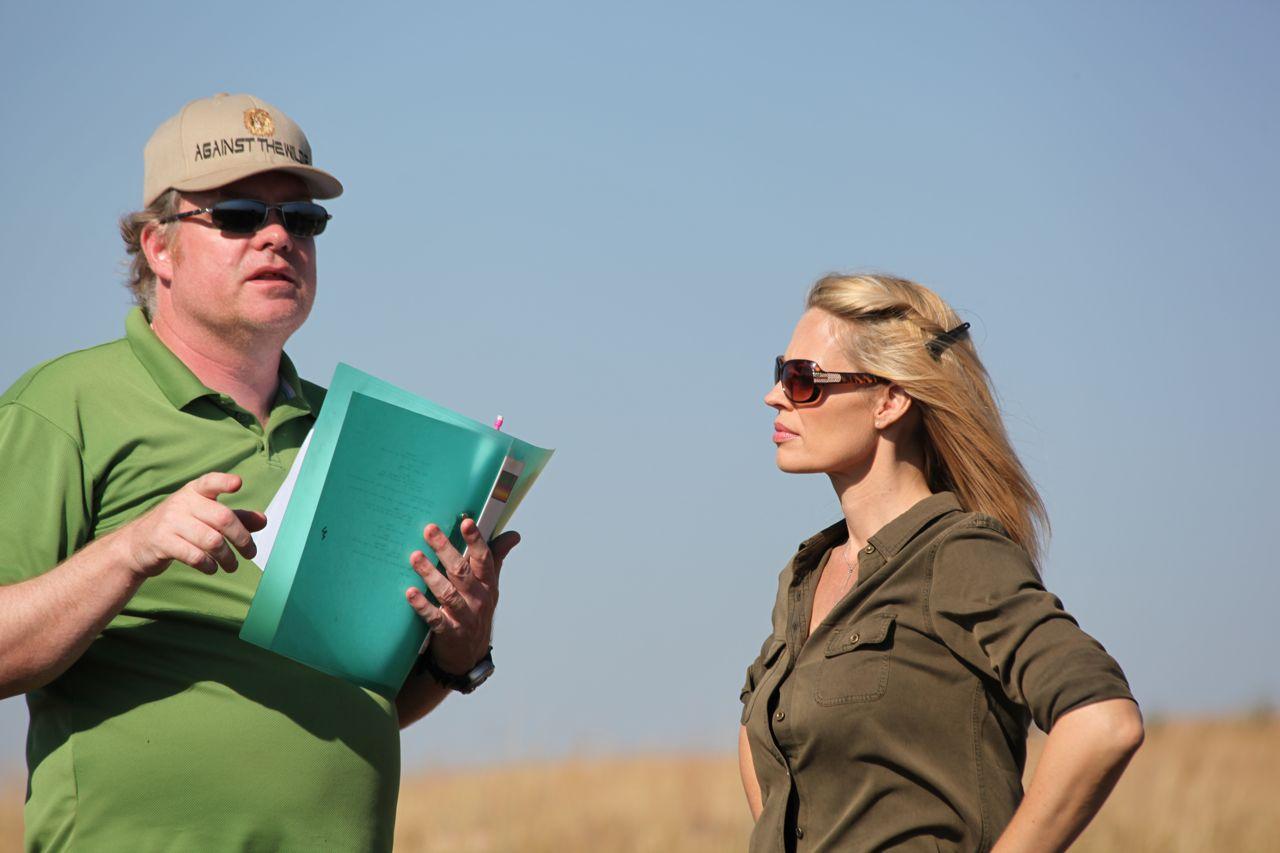 Richard Boddington on the set of Against The Wild 2
