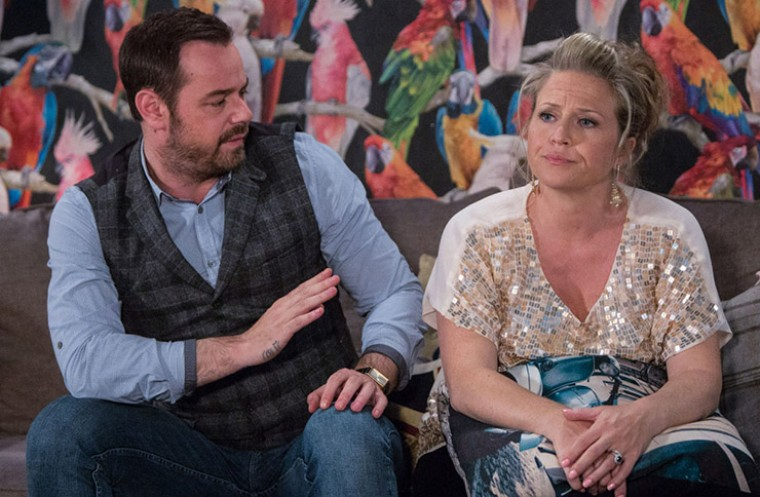 Eastenders stars Danny Dyer and Kellie Bright