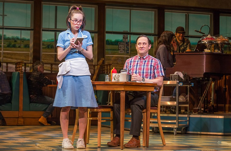 Chris Fitzgerald and Caitlin Houlahan in Waitress on Broadway