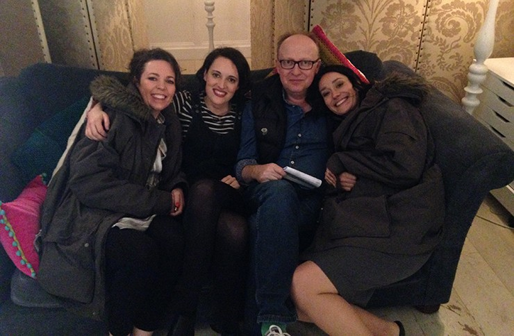 BAFTA-winning Fleabag cast and crew on set