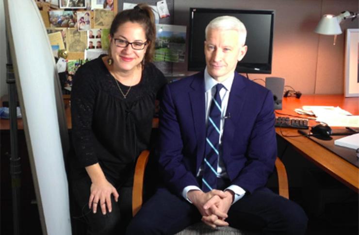 Anderson Cooper and Jenni Matz
