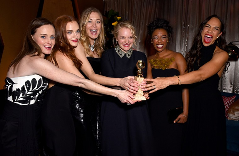 Golden Globes after party 2017 with Elisabeth Moss