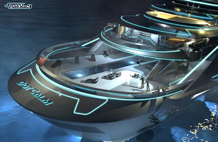 johnny english strikes again production design yacht sketch