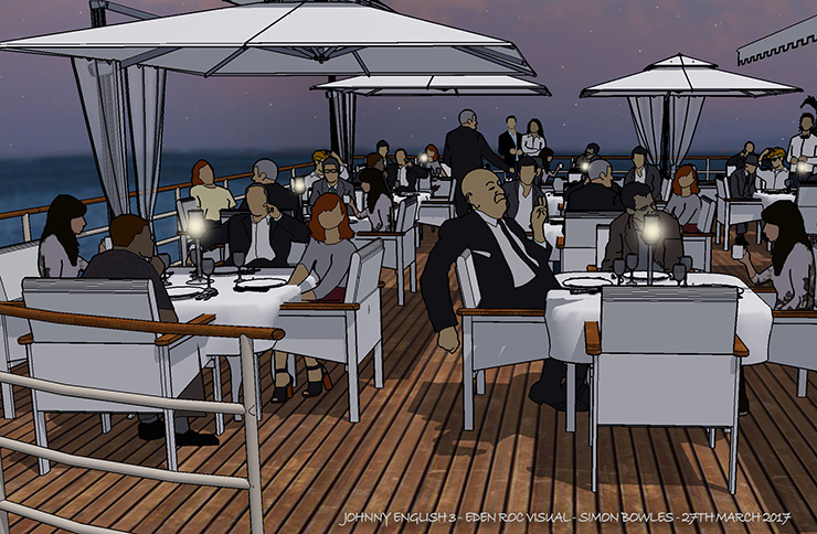 johnny english strikes again production design office sketch