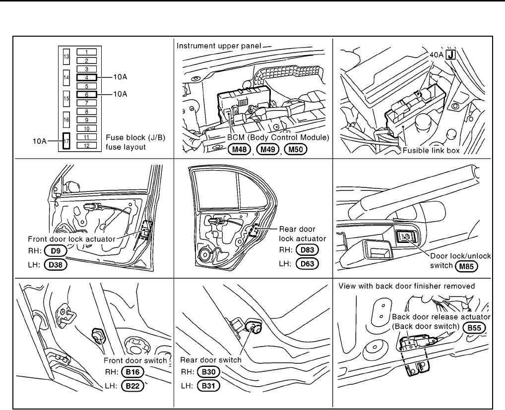 Nissan Micra Wiring Diagrams 2003 2005 4 Pdf Door Diagram