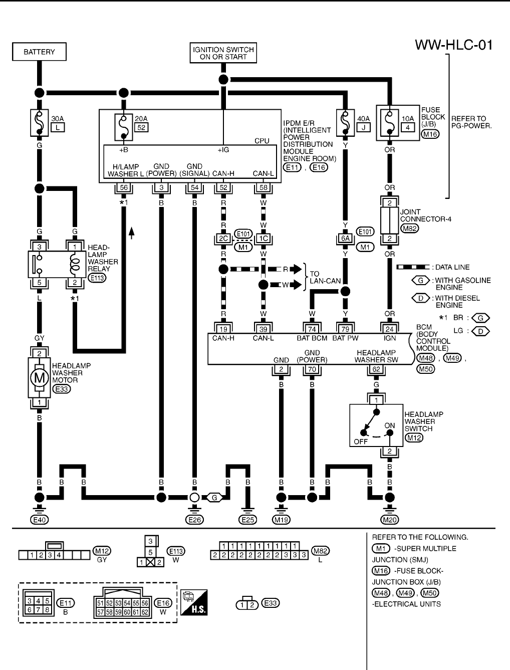 nissan micra wiring diagrams 2003 2005 (36) pdf nissan micra headlight wiring diagram