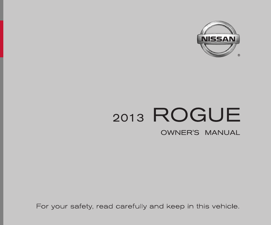 2013 nissan rogue owners manual