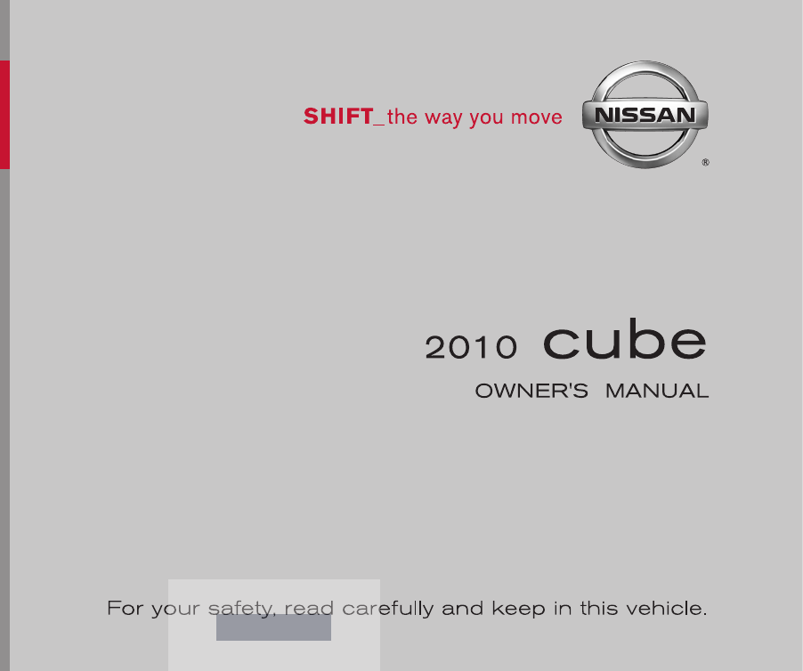 2010 nissan cube owners manual pdf rh manuals co owners manual for 2010 nissan 370z owners manual 2010 nissan versa