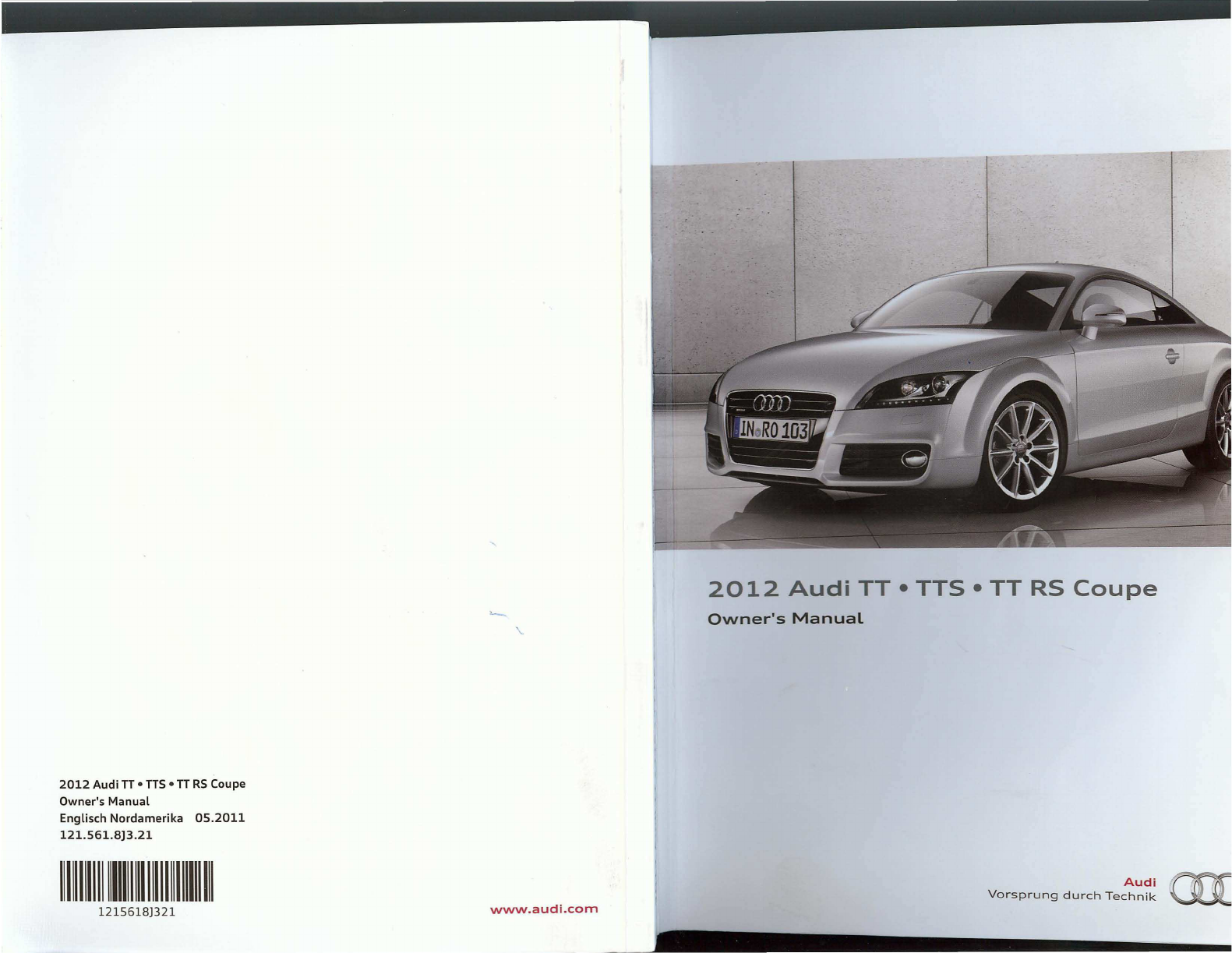 audi tt 2012 owners manual pdf rh manuals co 2002 Audi TT Owner's Manual 2015 Audi TT Manual Transmission