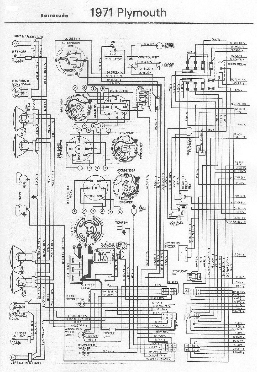 dodge challenger 1971 misc documents wiring diagrams pdf. Black Bedroom Furniture Sets. Home Design Ideas