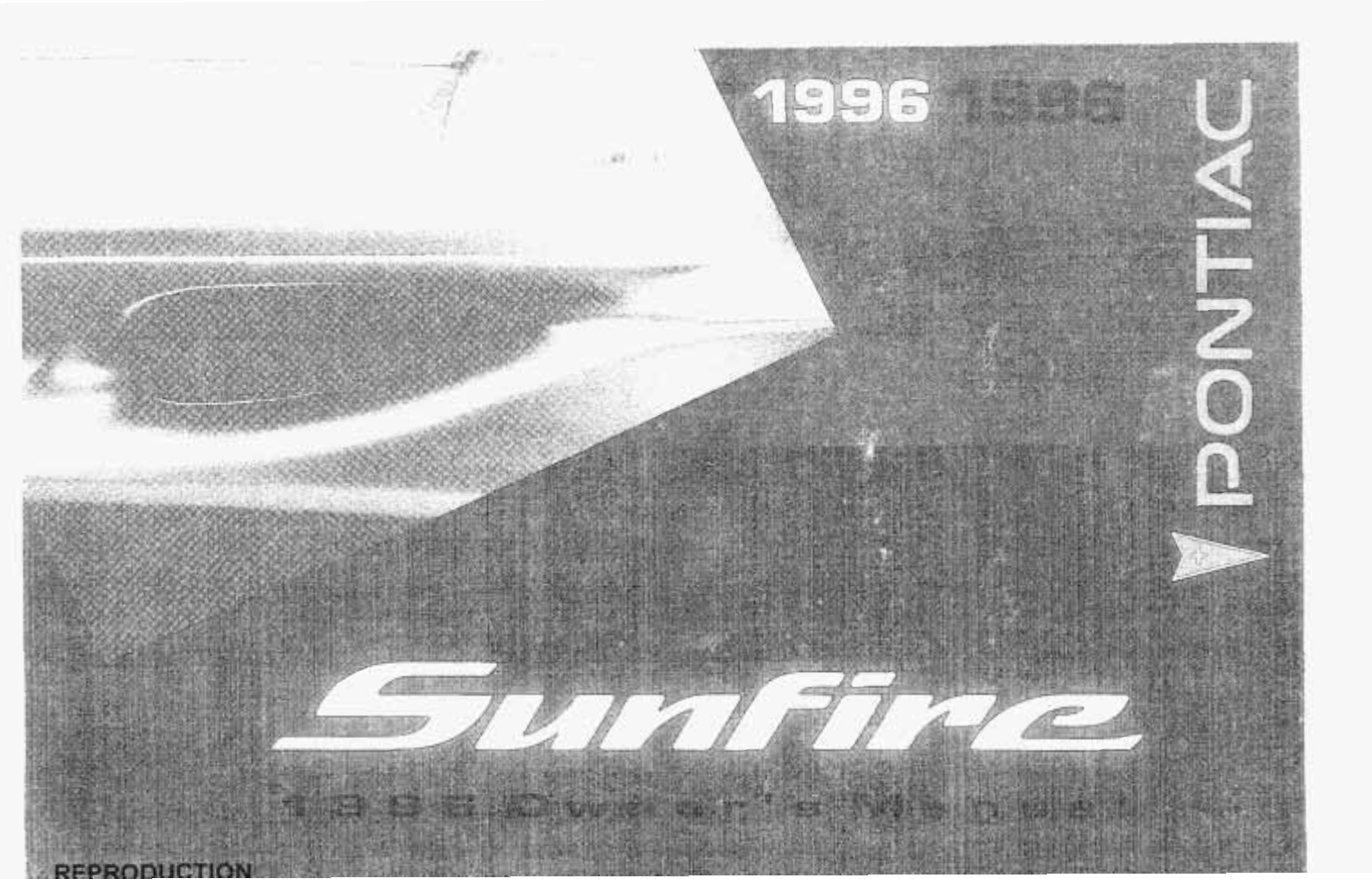 1996 pontiac sunfire owners manual
