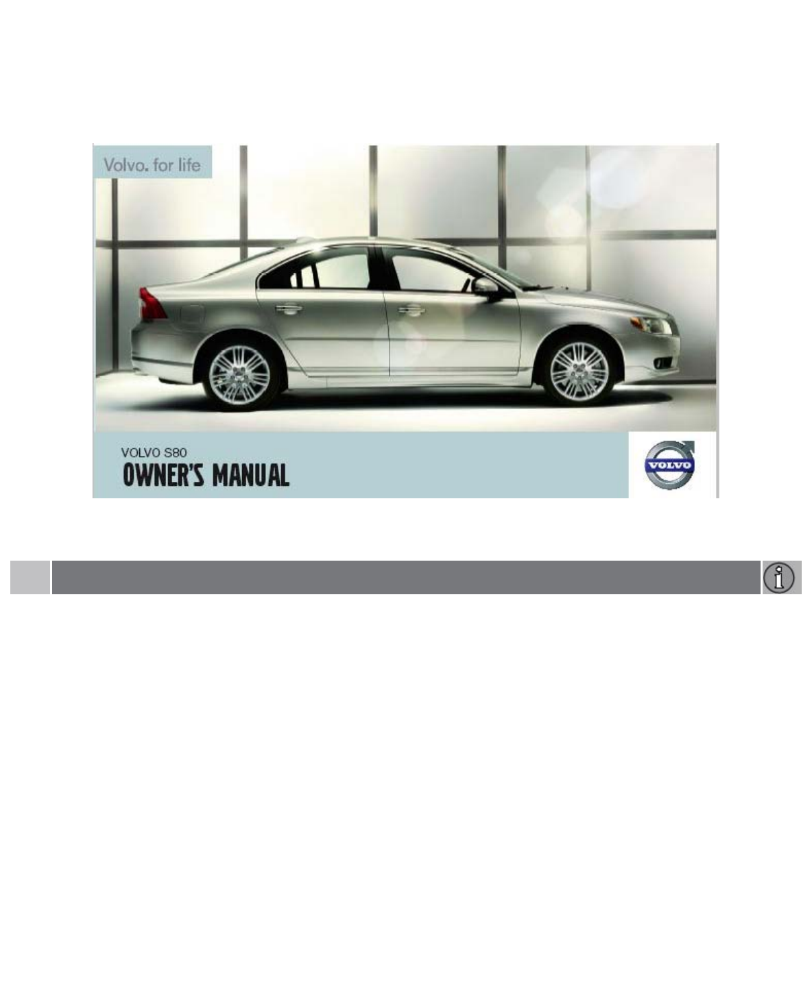 2007 volvo s80 owners manual pdf rh manuals co 2010 volvo s80 owners manual 2008 Volvo S80