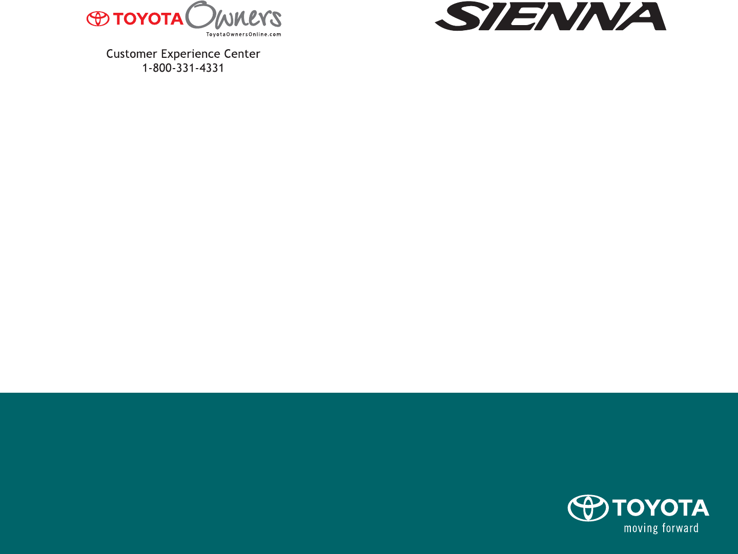2009 toyota sienna owners manual pdf freerunsca Choice Image