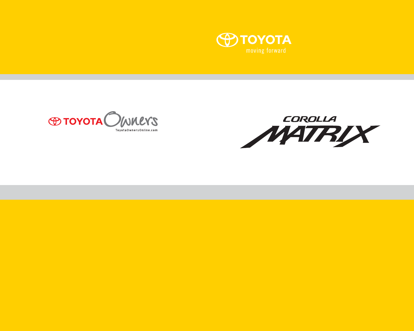 2009 toyota matrix owners manual pdf rh manuals co 2009 Toyota Matrix Review 2009 Toyota Matrix Problems