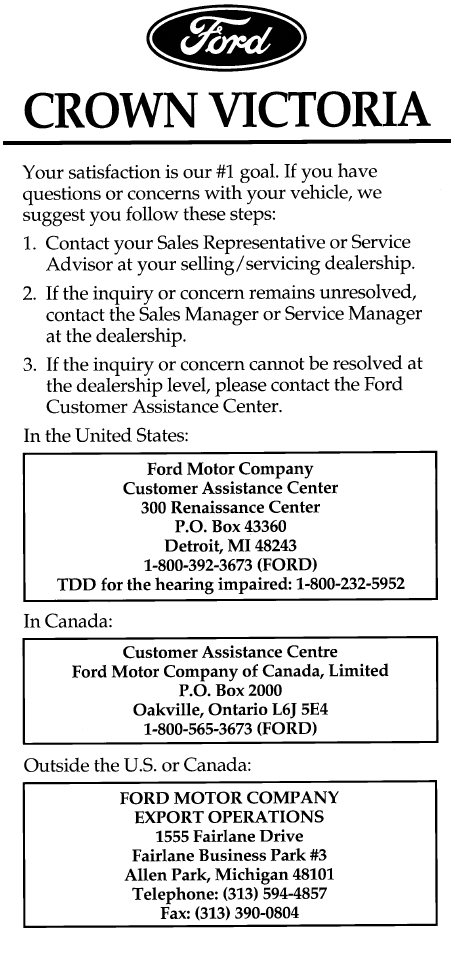 ford crown victoria manual pdf