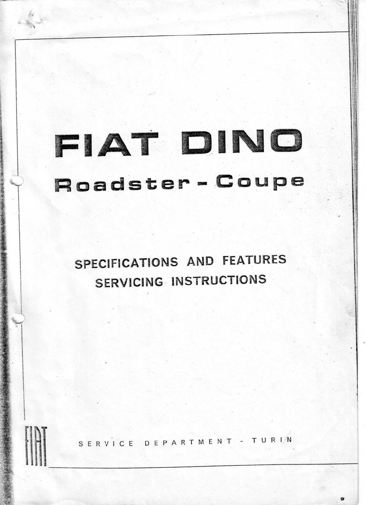 See our other Fiat Dino Manuals: