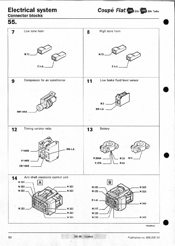 fiat coupe misc documents wiring diagrams pdf, Wiring diagram