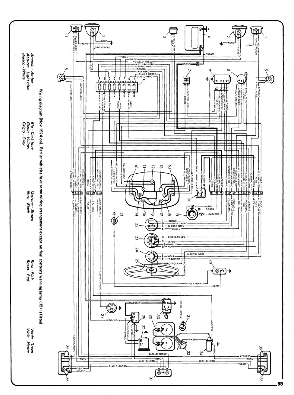 Fiat Wiring Diagram : Fiat generator wiring diagram auto parts catalog