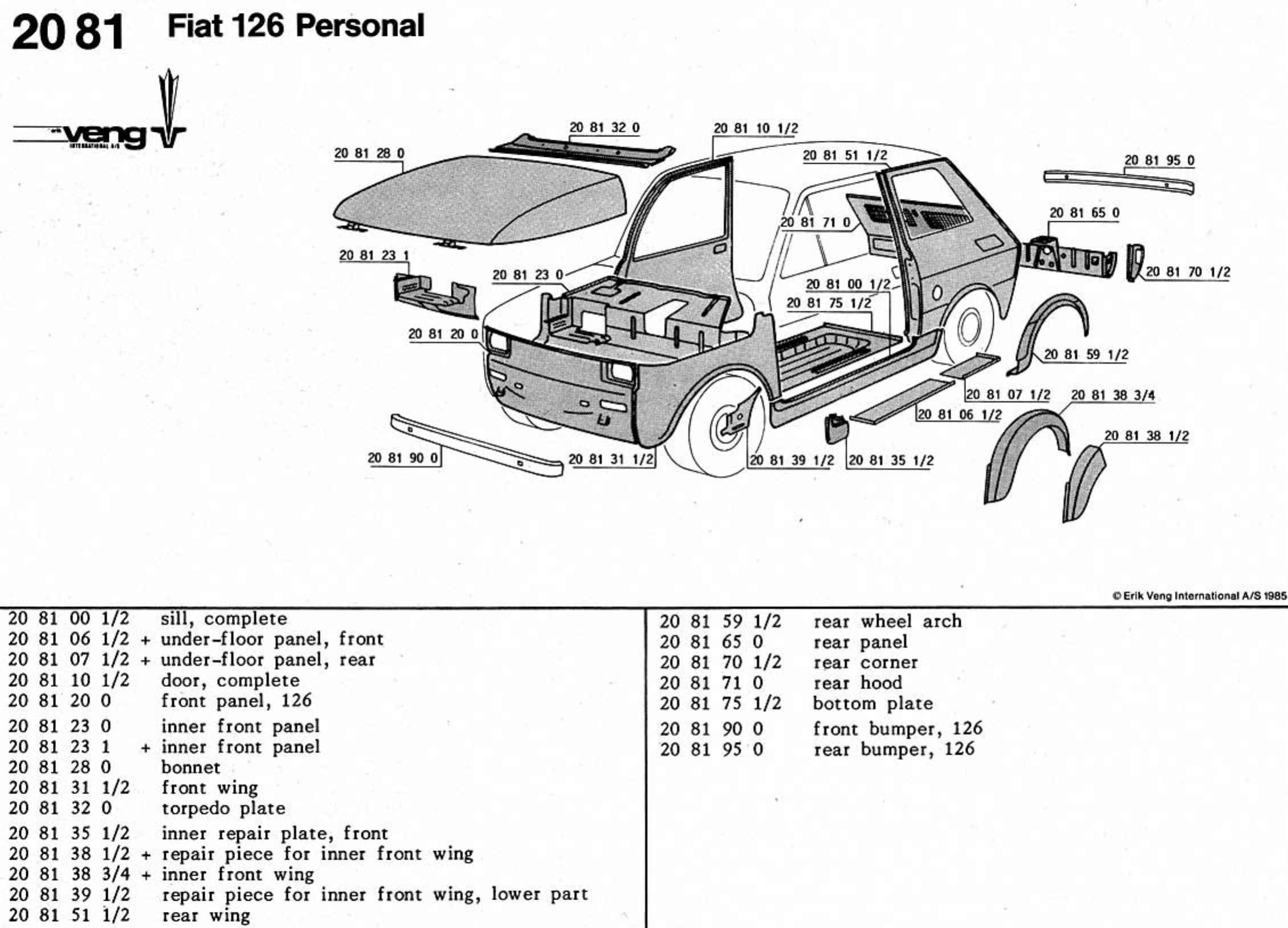 See our other Fiat 126 Manuals: