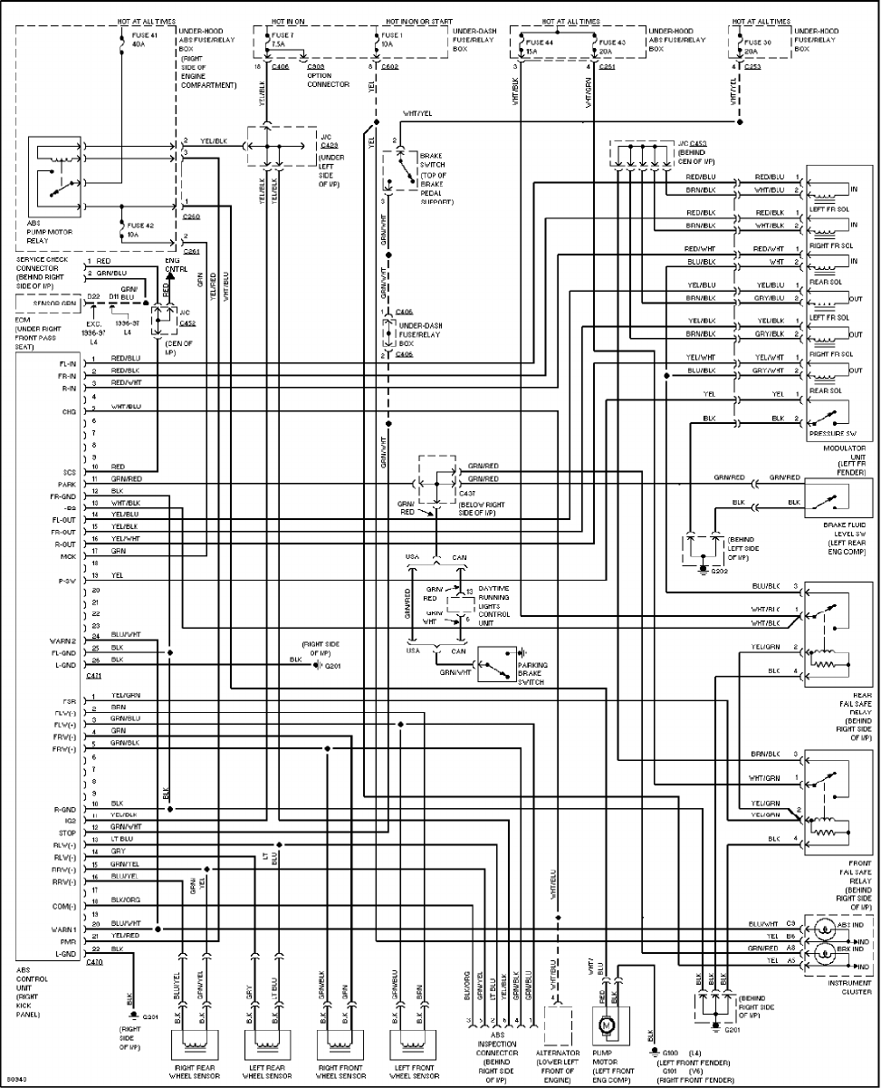 honda accord 1997 misc documents wiring diagrams pdf