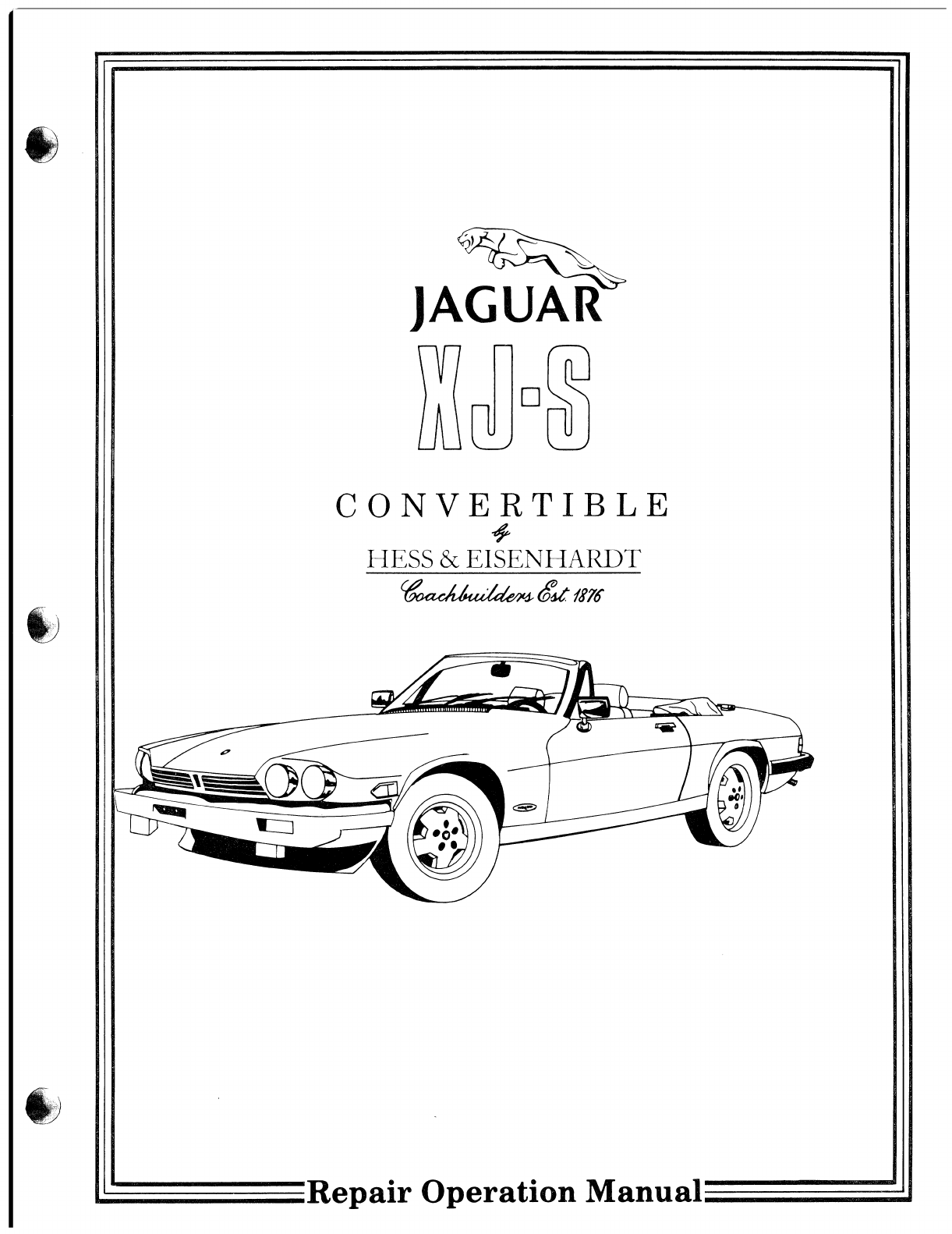 jaguar xjs workshop manual pdf rh manuals co jaguar repair manual free download jaguar repair manuals online