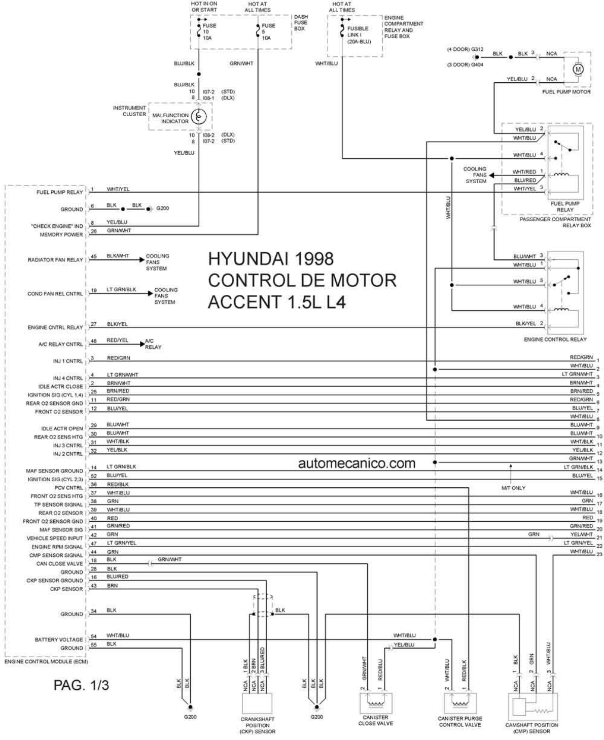 Hyundai Excel Wiring Diagram Download Harness Schematics 2004 Sonata Stereo Wire Accent 1998 Misc Document Pdf Rh Manuals Co 2002