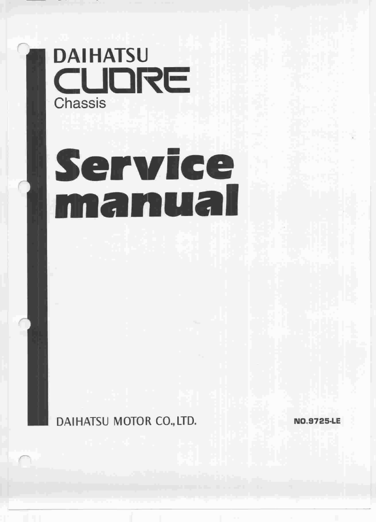 Daihatsu L7 Wiring Diagram Posts Manual Cuore 94 Service Mgb 1998 Workshop Pdf Rh Manuals
