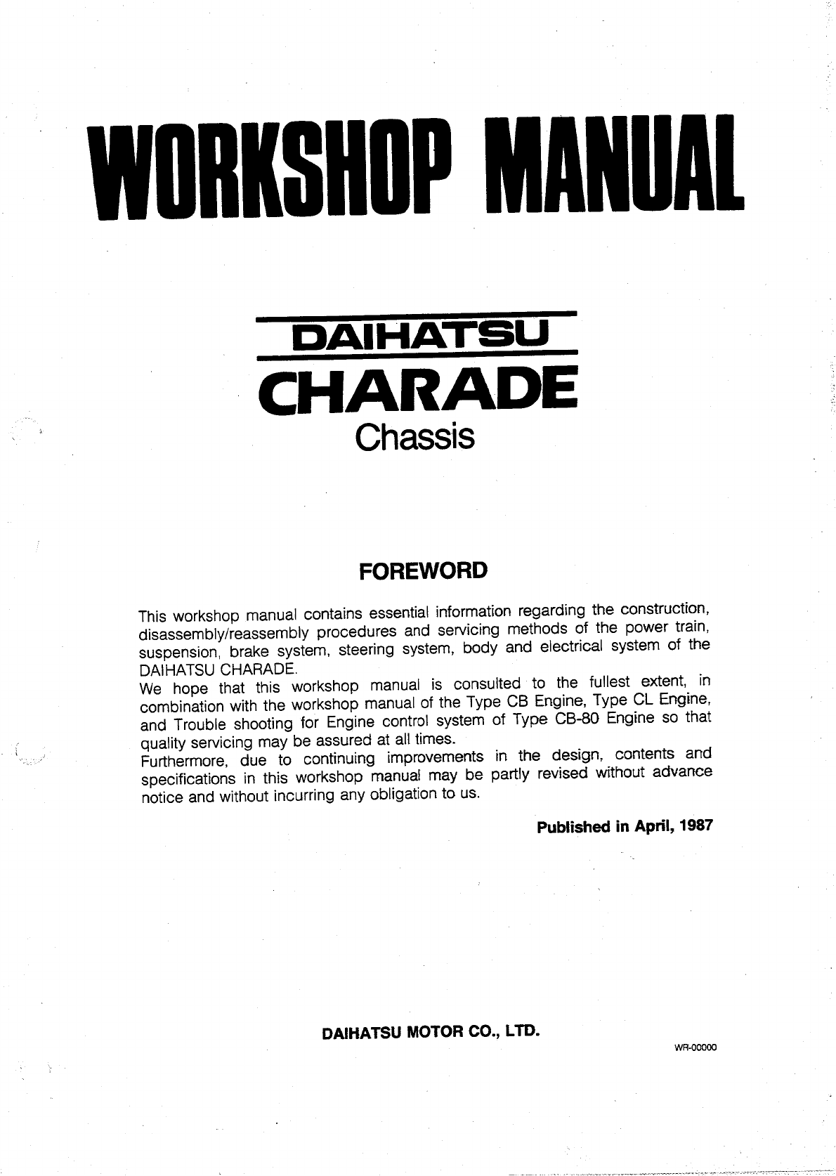 See our other Daihatsu Cuore Manuals: