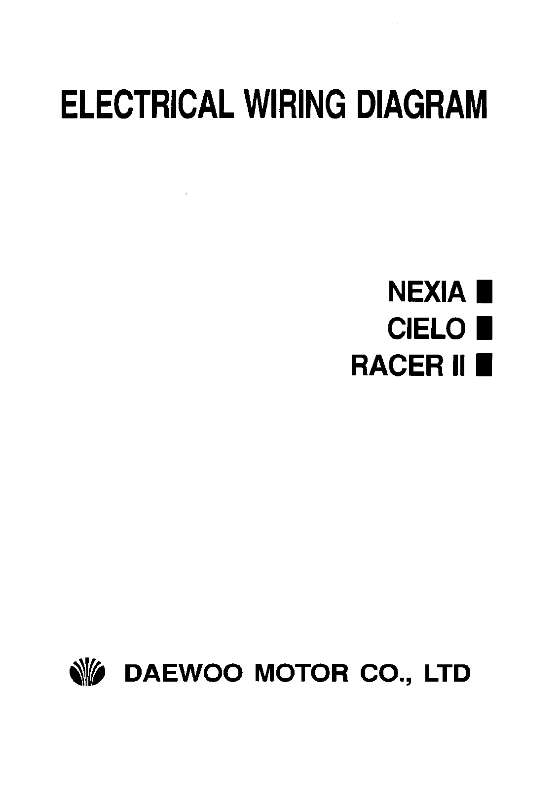 See our other Daewoo Nexia Manuals: