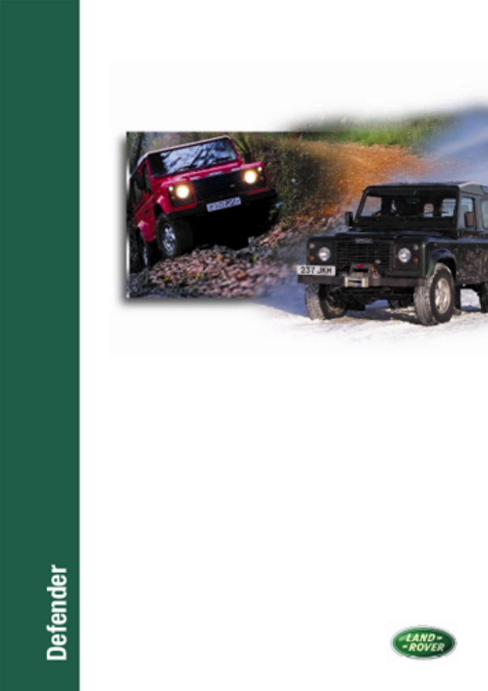 land rover defender 1996 owners manual pdf rh manuals co defender 90 owners manual defender 300 tdi owners manual