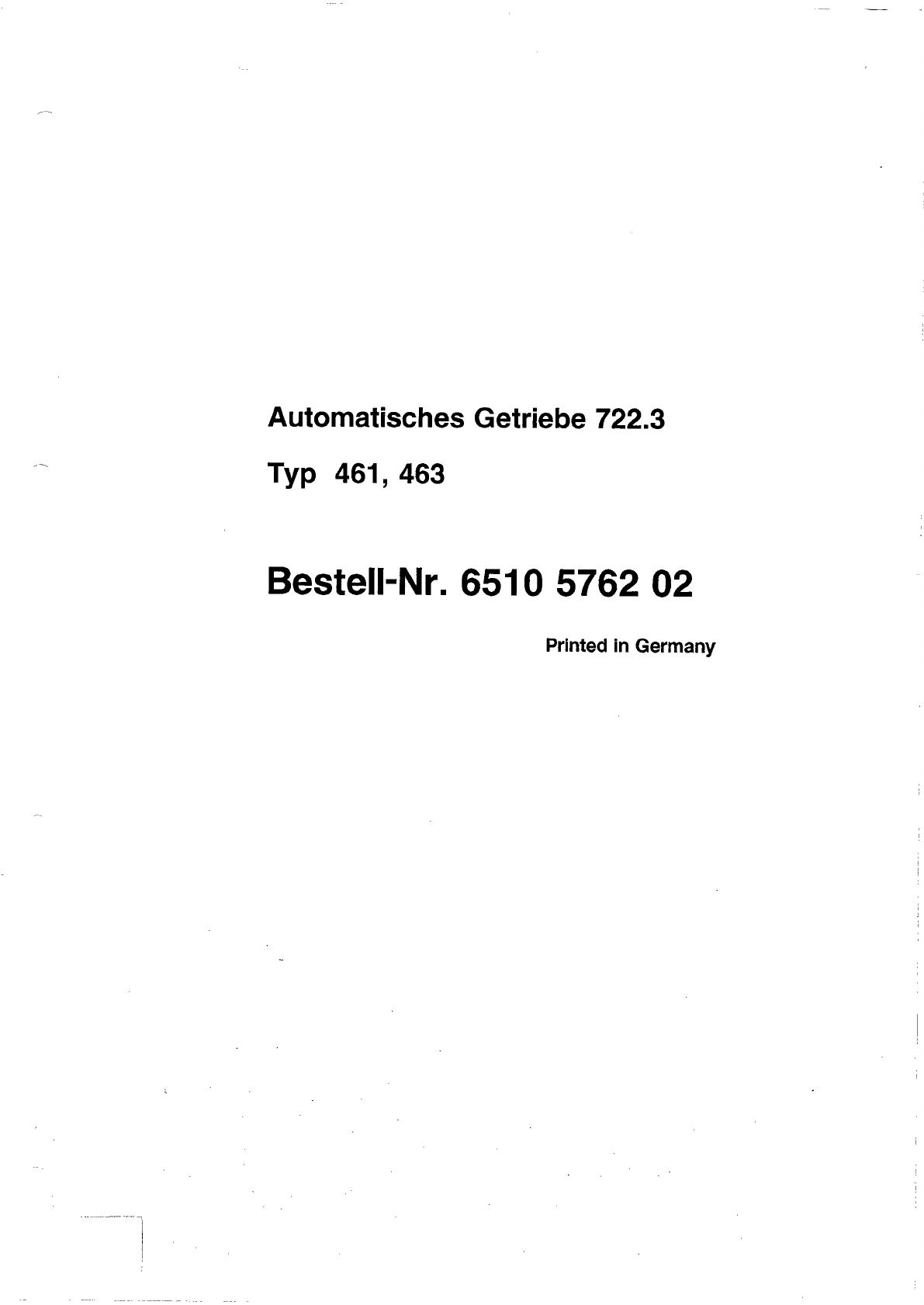 Mercedes G 230 Repair Manual Electrical Wiring Diagram Of 1992 Suzuki Vs800 Intruder For Us And Canada Part 2 Array Workshop Automatic Transmission Pdf Rh Manuals
