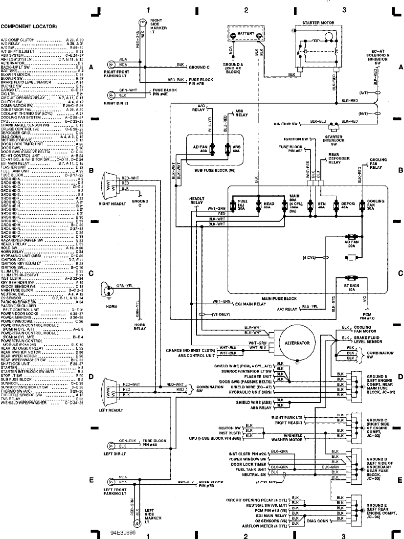 mazda mx 3 1993 misc documents wiring diagram pdf
