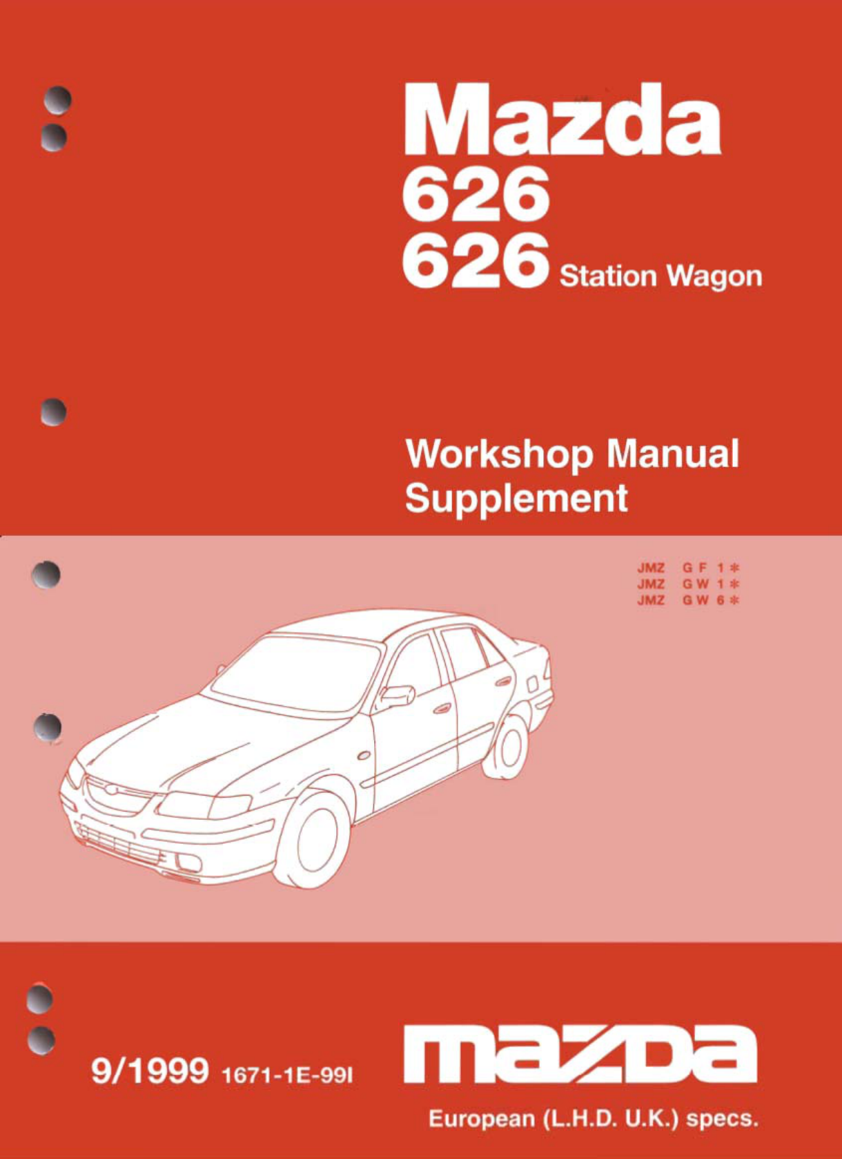 See our other Mazda 626 Manuals: Mazda 626 1998 Workshop ...