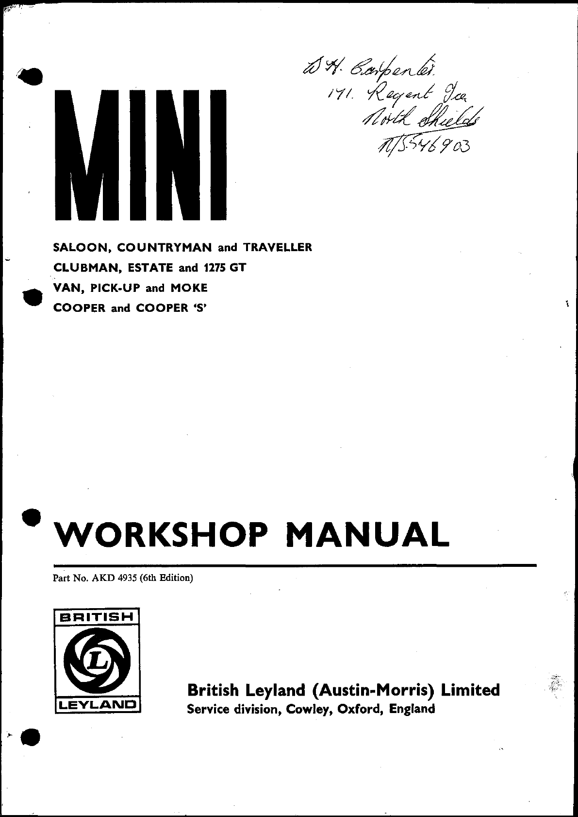 Leyland 245 workshop manuals array mini cooper clubman 1971 workshop manual pdf rh manuals fandeluxe