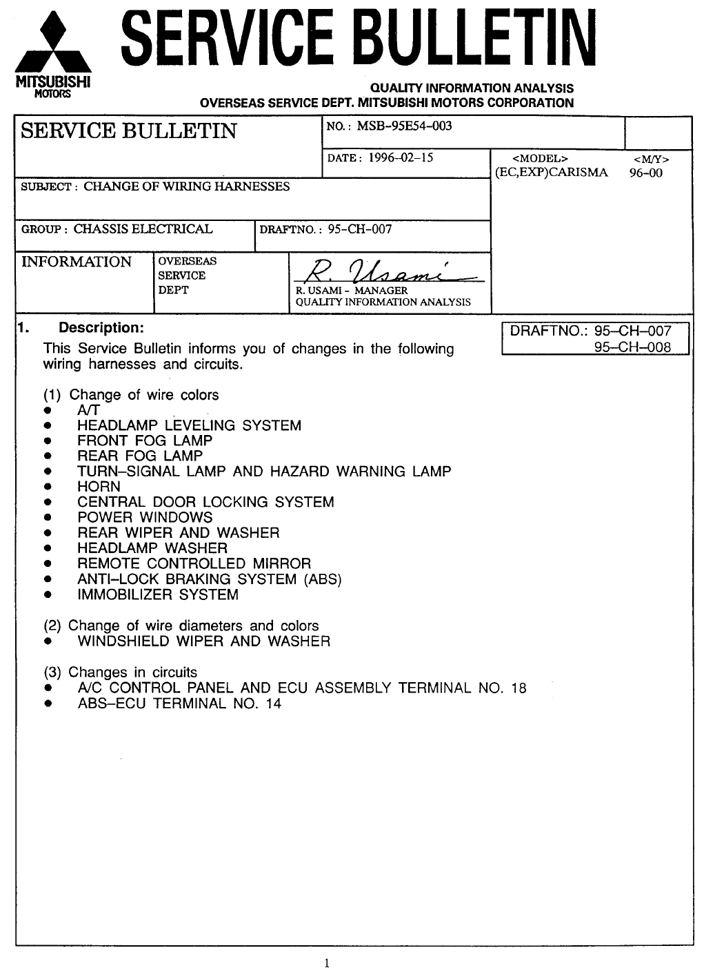 Mitsubishi Carisma 1996 Misc Document Wiring Diagram Pdf See Our Other Manuals