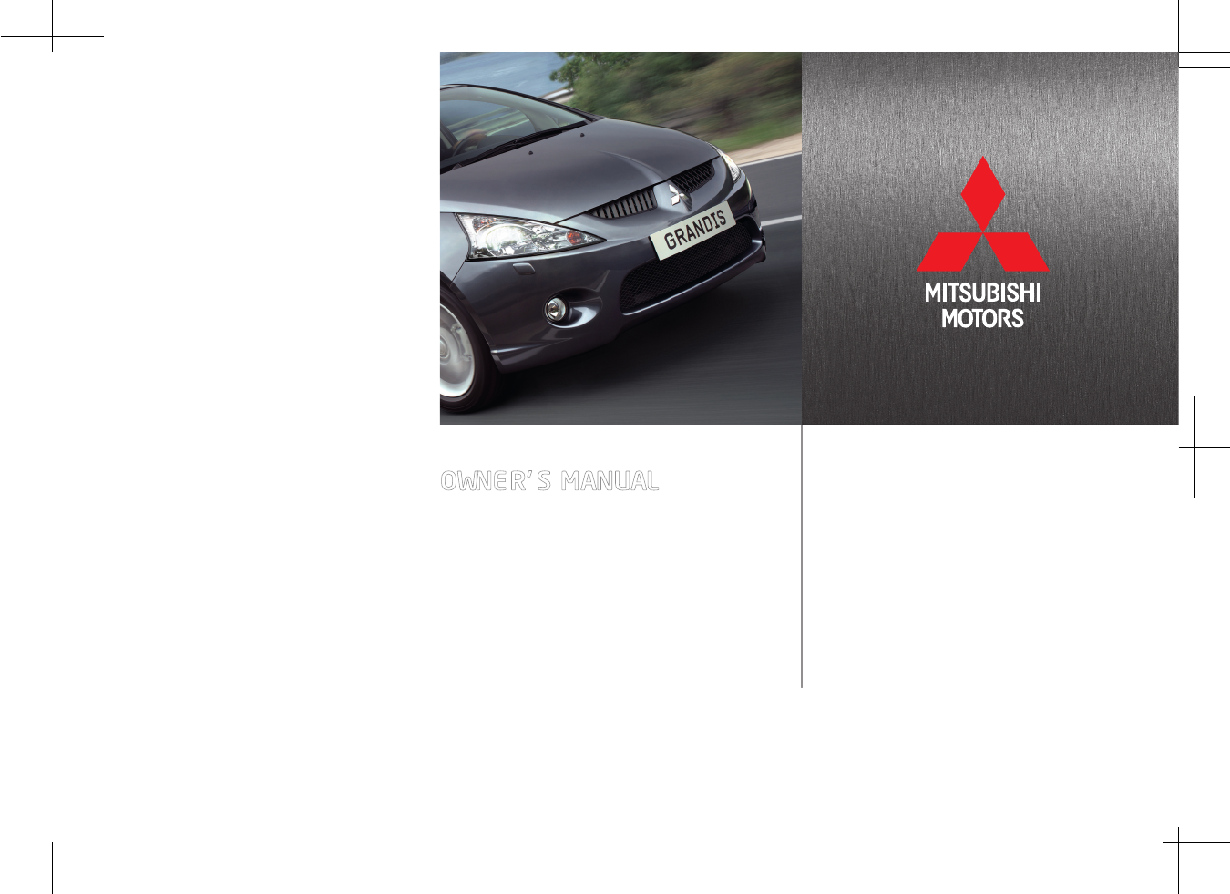 mitsubishi grandis owners manual pdf rh manuals co Operators Manual mitsubishi grandis owners manual pdf