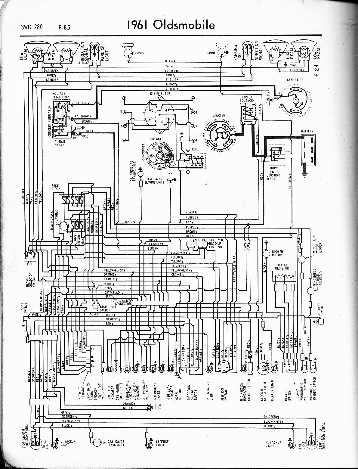 oldsmobile cutlass 1961 1965 misc documents wiring